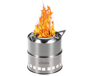 ohuhu portable stainless steel stove, wood burning fireplace insert