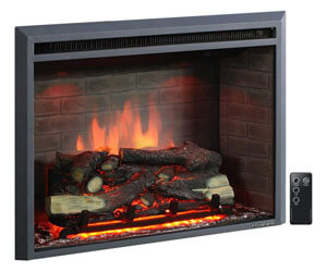 puraflame western fireplace, wood burning stove insert